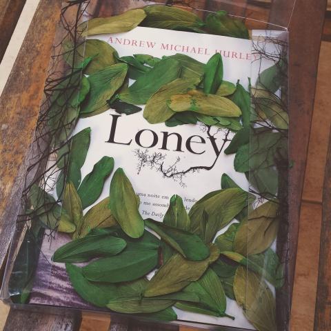 A Intrínseca mandou esta cortesia para todos os parceiros com esta embalagem caprichada, cheia de folhas.